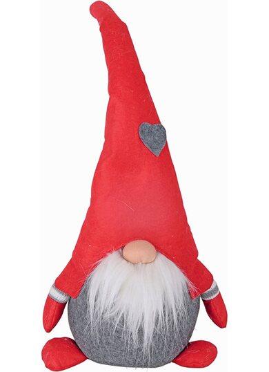 Gnomo in tessuto con cappello decorato