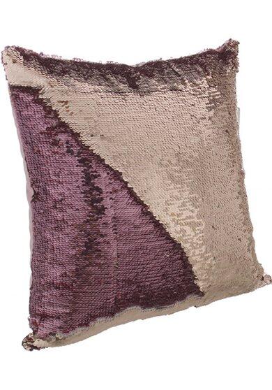Cuscino Bellatrix rosa 40 cm x 40 cm