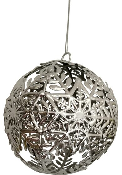 Sfera metallo argento Ø 10 cm