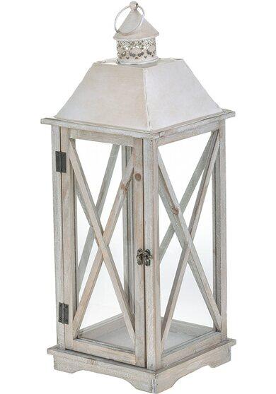 Lanterna in legno sandy 60 cm