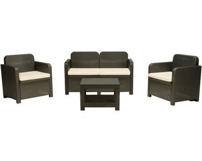 Tavolo Da Giardino Grand Soleil.Grandsoleil Set Sofa Sorrento Antracite Obi