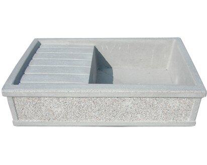Lavandino Per Esterno In Plastica.Lavandino Levanzo 80 Martellinato Obi