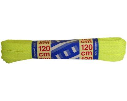 2 lacci piatti 120 cm giallo fluo