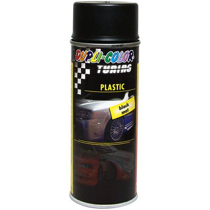 Vernice auto Spray plastic 400 ml nero opaco
