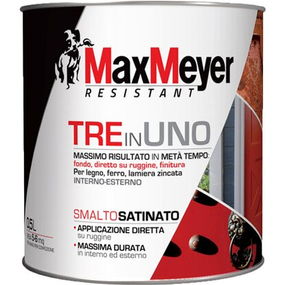 MaxMeyer smalto 3 in 1 satinato marrone 0,5 l
