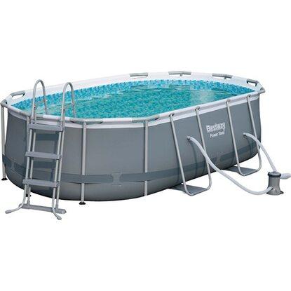 Bestway set piscina ovale con telaio in acciaio 424 cm x for Obi pool set