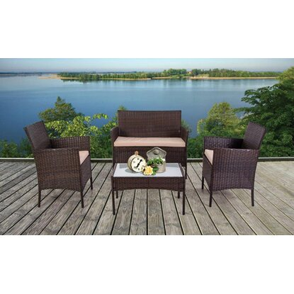 Set Panarea In wicker marrone 4 pz
