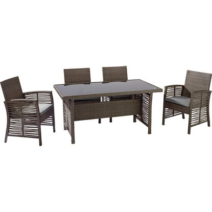 OBI set da giardino in wicker Fallston 5 pz