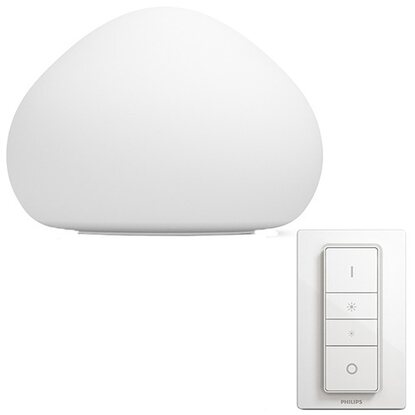 Lampada Tavolo Led Wellner Telecomando Dimmer Philips Hue Da Switch Con OnwPk0