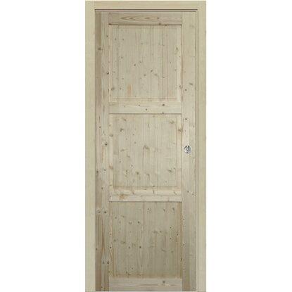 Porta scorrevole stelvio abete grezzo 70 cm x 200 cm con for Porte in legno grezzo