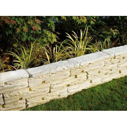 Muretto gironda in pietra ricostruita bianco acquista da obi - Muretti in pietra giardino ...