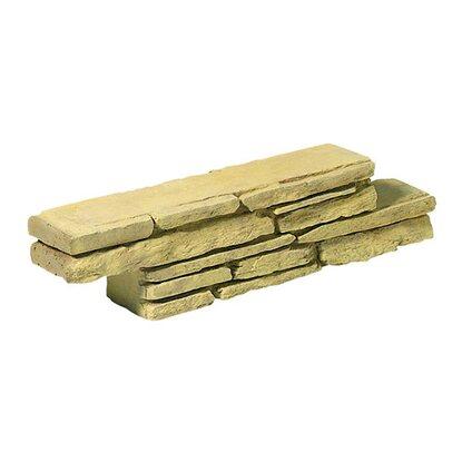 Blocco z giallo madrid in pietra ricostruita gialla - Muretti in pietra giardino ...