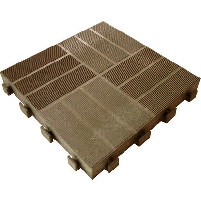 Piastrella da esterno in legno e hdpe marrone acquista da obi - Piastrelle autobloccanti prezzi ...