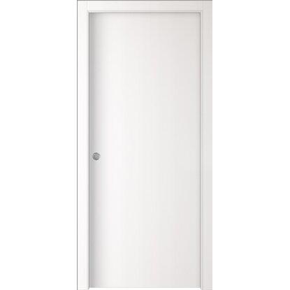 Porta scorrevole reversibile badia bianca 200 cm x 70 cm - Porta garage scorrevole ...