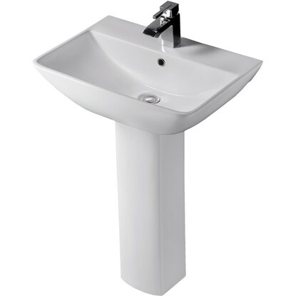 Lavabo in ceramica monoforo Summit 60 cm