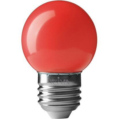 Lampada LED Deco Party sfera E27 0.5W rossa