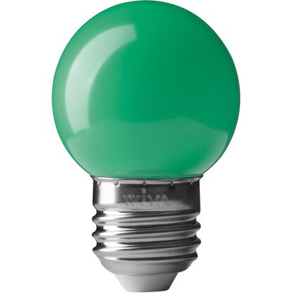Lampada LED Deco Party sfera E27 0.5W verde