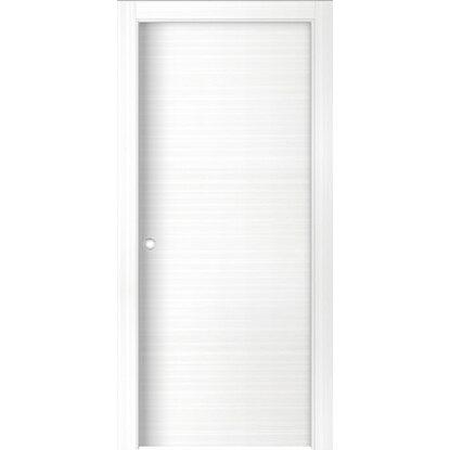 Porta scorrevole reversibile lindos bianca 200 cm x 70 cm acquista da obi - Porta scorrevole bianca ...