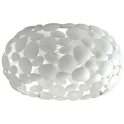 Luce 3 Luci Dioniso Satinato In Ambiente Design Plafoniera Bianco Metallo 2EDHIW9