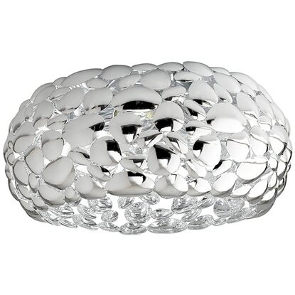Dioniso Luce Ambiente Plafoniera Metallo Design 3 Bianco Luci Cromo In IW2EHYeD9