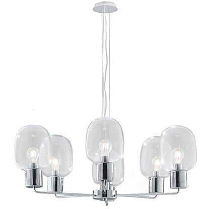 LUCE ambiente Design lampada a sospensione Fellini vetro trasparente ...
