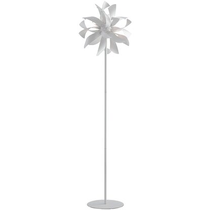 In Bloom Piantana Metallo Satinato 4 Argento Design Luci Luce Ambiente WordexBC