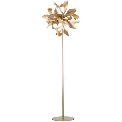 Satinato Luci Bloom Oro Ambiente 4 Metallo Luce Design Piantana In JlFKcu135T