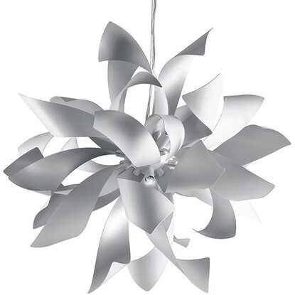 Argento Luci Sospensione Lampada Bloom Metallo A Ambiente Luce Satinato Design 4 Yfy7b6gv