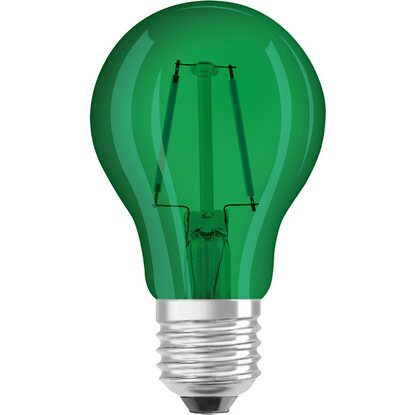 OSRAM lampadina LED Decor goccia E27 verde