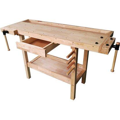Vigor banco da lavoro in legno acquista da obi - Banco da lavoro cucina legno ...