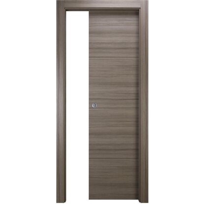 Porta scorrevole reversibile Juta rovere grigio 210 cm x 80 cm ...