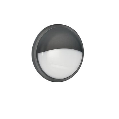 Intec plafoniera ever LED integrato 20W tonda antracite con palpebra