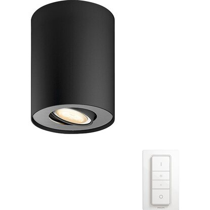 Philips Hue faretto Pillar White ambiance con telecomando Dimmer switch nero