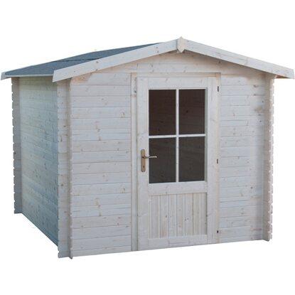 Casetta blokhaus in legno 20mm elba cm 246x246 acquista da obi for Casette legno obi