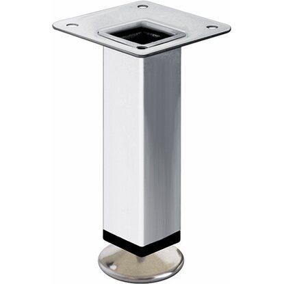 Set piedini quadrati in acciaio per mobili cromo 10 cm x 6 cm x 6 cm acquista da obi - Mobili in acciaio ...