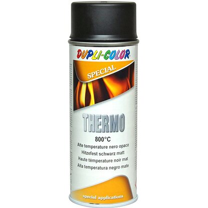 Vernice Spray thermo 800°C 400 ml nero opaco