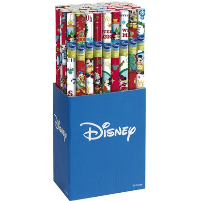 Rotolo carta Disney Natale assortito 70 cm x 200 cm