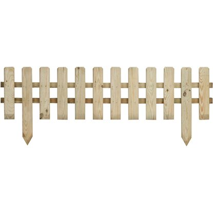 Recinzione bassa liscia acquista da obi - Recinzioni in legno per giardino ...