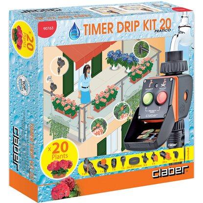 Claber kit irrigazione a goccia 20 vasi con Timer Kit 20 Pratico ...