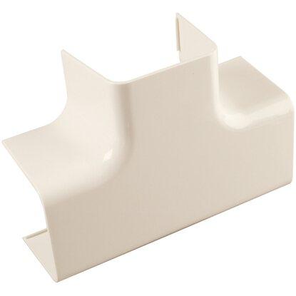 Giunto a T per canale 80 mm x 60 mm avorio 1 pz | OBI
