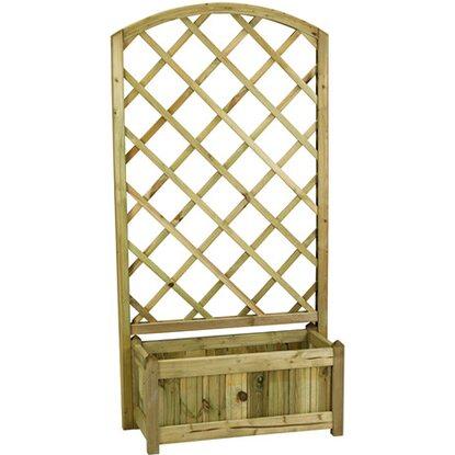 Fioriera con griglia rosita ad arco positivo acquista da obi for Fioriere in legno obi