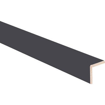 Paraspigolo in mdf rivestito in melaminico nero 278 mm