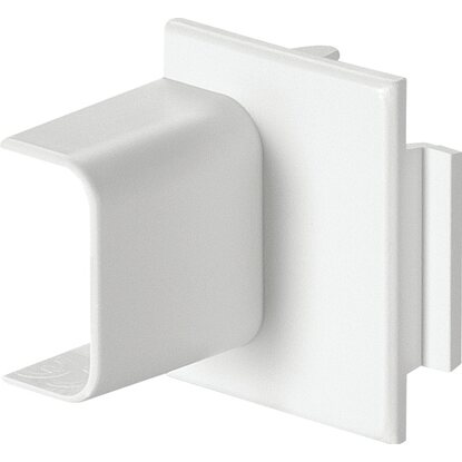 Raccordo terminale canale 20 mm x 10 mm - scatola portaplacca bianco