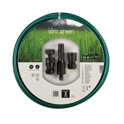 Tubo retinato IdroGreen Ø 12,5 mm 15 m con kit