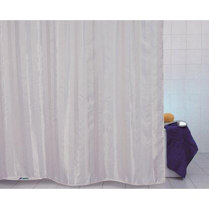 Tenda doccia in tessuto raso bianco 120 cm x 200 cm - Tende doccia tessuto ...