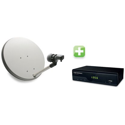 Kit SAT decoder parabola 40 cm + accessori