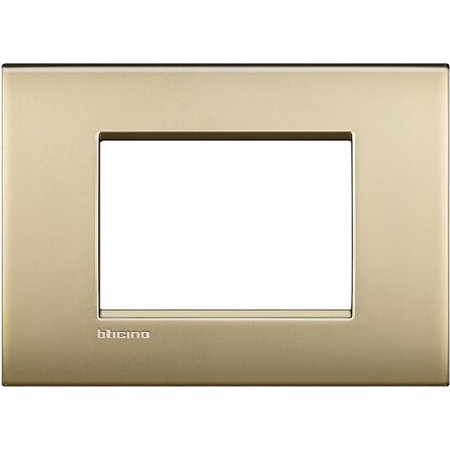 BTicino Livinglight AIR placca 3 moduli oro satinato