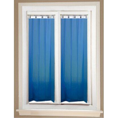 Coppia tendine a vetro Lina passante nascosto azzurro acquista da OBI