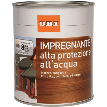 OBI impregnante all`acqua ebano 750 ml