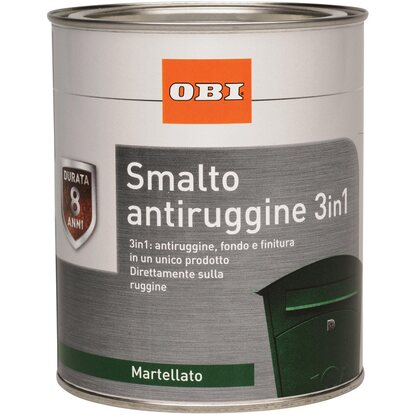 OBI smalto antiruggine 3 in 1 martellato argento 2,5 l